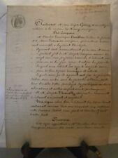 Acte notarié généralité Nancy 1858 vente de vigne à Eulmont Lorraine