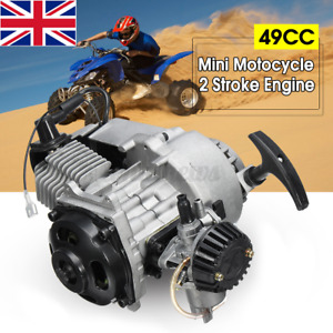 49cc 2 Stroke Pull Start Engine Mini Motor Minimoto Quad Dirt Bike ATV Filter UK