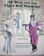 VTG PAPER DOLLS 1990s ART DECO 1920s 1930s WARDROBE FASHION BOOK NORMA LU MEEHAN