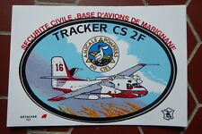 STICKER CARTE POSTALE BLASON ADHESIF SECURITE CIVILE TRACKER PELICAN MARIGNANE