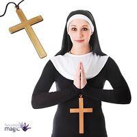Nun Kit Headdress & Collar Ladies Religious Fancy Dress Costume Hen Night Outfit