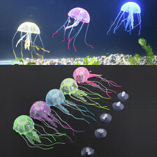 1X NEW VARIOUS ARTIFICIAL EFFECT GLOWING JELLY FISH TANK AQUARIUM DECO ACCESSORY