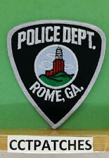 ROME, GEORGIA POLICE BLACK/GRAY SHOULDER PATCH GA