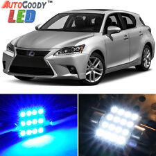 10 x Premium Blue LED Lights Interior Package Kit for Lexus CT200h 11-17 + Tool