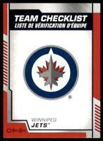 2020-21 UD O-Pee-Chee Red Border Team Checklist #581 Winnipeg Jets