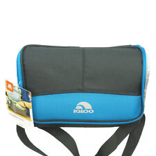 Igloo Insulated 6 Pack Cooler Collapsible Unisex Lunch Bags Blue Trim