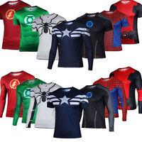 Costume da supereroe uomo asciugatura veloce Casual T-shirt maglia Spiderman