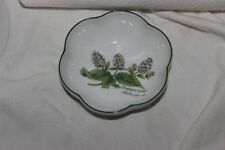 Royal Worcester Herbs  Round Scalloped Bowl  Butterflies Peppermint