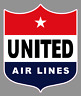 "United Airlines 6"" Vintage Logo Premium Vinyl Decal Sticker"