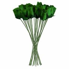 Green Realistic Wooden Roses 32 Count