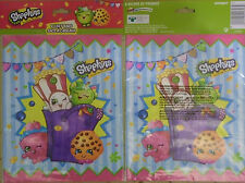 """@*PACK OF 8 SHOPKINS PARTY LOOT/GOODIE/FAVOR/TREAT BAGS/SACKS*@ 7.33"""" X 9"""""""