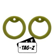 2 Olive Drab Dog Tag Silencers - Military GI Silencer - Tag-Z