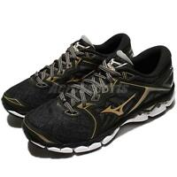 Mizuno Wave Sky Black Gold Men Running Shoes Sneakers Trainers J1GC17-0250