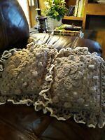 Vintage Crochet Farmhouse Decor Pillow Set