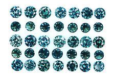 Natural Loose Diamond Blue Color Round SI1 VS1 Clarity 2.10 to 2.40MM 10 Pcs Q25