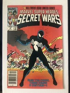 Secret Wars #8 1984-1st App Black Costume, Venom Symbiotic, Newsstand Variant!!!