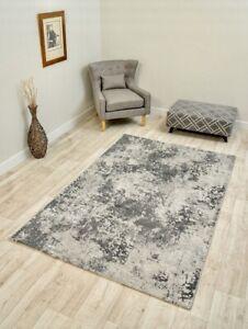 Modern Extra Large Big XL Cheap Silver Grey Rug Silk Mat Cheapest Rugs Online UK