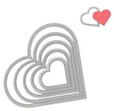 DIES CUT Matrice Sizzix Framelits Sizzix - Kit de gabarits coeur 6 pièces SCRAP