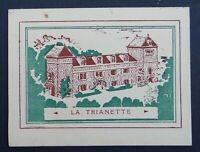 Carte de visite HOSTELLERIE LA TRIANETTE Marly-le-Roi Louveciennes