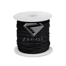 80m/Roll Waxed Cotton Cord Jewellery Leatherraft Making Thread 0.8mm Black