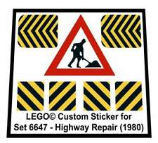 Lego® Custom Sticker for Classic Town Traffic set 6647 - Highway Repair (1980)