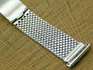 NOS Vintage Stainless Steel Deployment Clasp Watch Band 16mm- 20mm Unused Mens