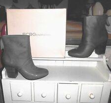 NIB* Sz 7 BCBGeneration, Riviera; (LAST PAIR ON EBAY) Gray Leather Ankle Boots