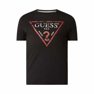 Guess Slim Fit Cotton T-Shirt In Black Size M