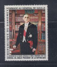 Dahomey 1967 Charles De Gaulle Sc C62 Mint very lightly Hinged