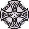Celtic Knot Cross Patch Iron Sew On Embroidered Badge Motorbike Motorcycle Biker