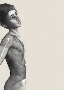Fine Art Ltd 1/5 Pigment Print Drawing Nude Skinny Male by Etienne Benassi