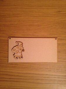 Wooden Santa Plaque Mdf Blank 200x100mm