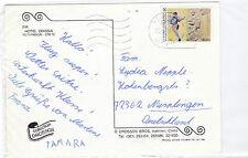 Griechenland 1852 FUßBALL USA 1994 WORLD CUP SOCCER  HOTEL ODISSIA GREECE KARTE