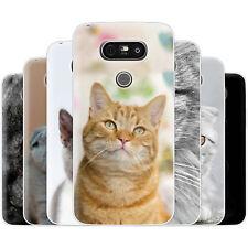 dessana Katzen TPU Silikon Schutz Hülle Case Handy Tasche Cover für LG