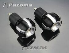 "22mm  7/8"" Handle Bars Ends Grips Plug Slider Silver Universal For Honda Suzuki"