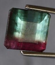 10.37ct *AGL Certified* Rare Natural BI-COLOR TOURMALINE, Blue-Pink, Emerald Cut