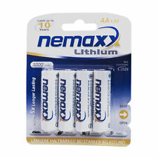 4x Nemaxx Premium 1,5V AA Lithium Batterie 3000 mAh, 10 Jahre Laufzeit, 4er Set