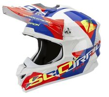 SCORPION vx-15 EVO AIR GRID Crosshelm-MADREPERLA BIANCO ROSSO BLU
