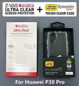 ZAGG Ultra Clear Screen Protector + Otterbox Hard Cover Case for Huawei P30 Pro