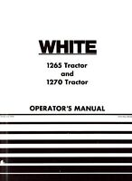 Oliver White 1265 and 1270 Tractor Owners Operators Manual