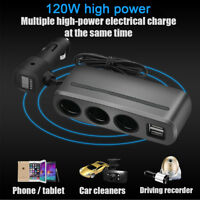 12V/24 Dual USB Port Car Cigarette Lighter Socket Splitter Charge LED Voltmeter