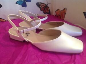 Ladies Lovely Formal Cream/champagne Wedding Shoes Size 8/42,New Shop Clearance