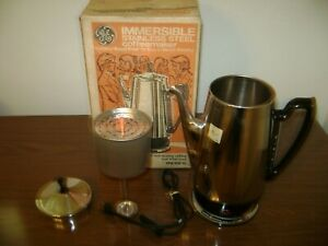 Vintage 1960's General Electric 10 Cup Percolator/Coffeemaker-MINT/UNUSED W/Box