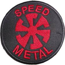 Speed Metal RED patch embroidered Banzai Records Celtic Frost, Exciter, Slayer