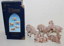 "Roman Fontanini 5"" Collection White Sheep Family, 5 Piece Set (72539)"