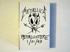 METALLICA METALLISTORE 1/21/93 CASSETTE RARE PROMO 3 SONGS LIVE IN MOSCOW