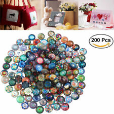 Rosenice Mosaic Tiles 200pcs 12mm Mixed Round for Crafts Glass Supplies Usa