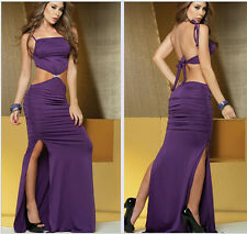 Sexy purple long dress sexy party dress in Europe and America temptations m wa23