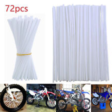 72Pcs YAMAHA YZ250 FRONT & REAR WHEEL SPOKE WRAPS COVERS - White YZ 250