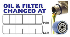 Oil & Oil Filter Change Service Stickers  Self Adhesive 120 Labels 64mm x 34mm